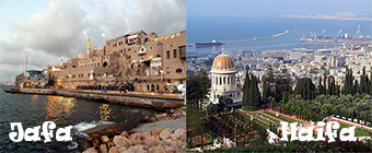 Jafa and Haifa cities