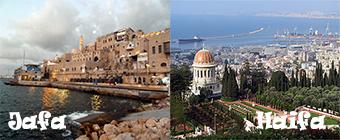 Jafa and Haifa cities
